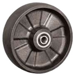 "8""x 2"" Glass Filled Nylon Wheel, Roller Bearing"
