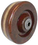 "4""x 2""  High Temp Phenolic Wheel 1/2"" Roller Bearing"