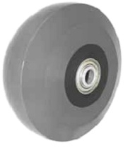 "5""x 2"" Solid Cast Polyurethane Wheel, Gray, Precision Ball Bearing"