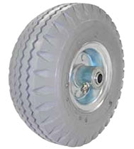 "8""x 3"" Gray Air Filled Pneumatic Wheel Ball Bearing Centered Hub,"