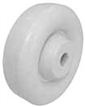 "3.5""x 1-1/4"" Polyolefin White Wheel Plain Bore"