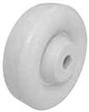 "5""x 1-1/4"" Polyolefin White Wheel Plain Bore"