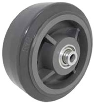 "4""x 2""  Polyurethane on Polyolefin Core Wheel Gray, Roller Bearing"