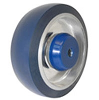 "3.5""x 1.25""  Polyurethane on Aluminum Wheel Blue, Annular Ball Bearing"
