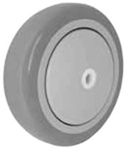 "3-1/2""x 1-1/4"" Gray Polyurethane on Gray Polyolefin Core Wheel, Precision Sealed Bearing"
