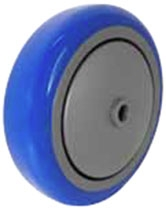 "3""x 1-1/4"" Blue Polyurethane on Gray Polyolefin Core Wheel, Precision Sealed Bearing"