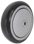 "5""x 1-1/4"" Black Polyurethane on Gray Polyolefin Core Wheel, Precision Sealed Bearing"