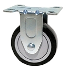 "Stainless Steel Light Duty 3.5""X1-1/4"" Rigid Caster Polyurethane on Polyolefin Core"