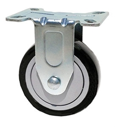 "Stainless Steel Light Duty 5""X1-1/4"" Rigid Caster Polyurethane on Polyolefin Core"