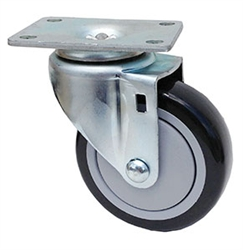 "Stainless Steel Light Duty 4""X1-1/4"" Swivel Caster Polyurethane on Polyolefin Core"