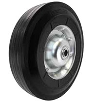 "10""x 2-3/4"" Semi Pneumatic Offset Hand Truck Wheel, Ball Bearing, metal hub"