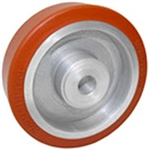"High Temp Rubber Wheel on Aluminum Core 4""x 1.5"" Precision Ball Bearings"