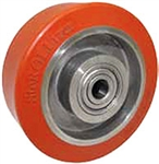 "High Temp Rubber Wheel on Stainless Steel Core 4""x 1.25"" Plain Bore"