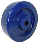 "4""x 1.25"" Blue Solid Cast Polyurethane Wheel, Gray, Precision Ball Bearing"