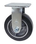 "Medium Duty 6""x 2"" Rigid Caster Albion Rubber on Aluminum Wheel"