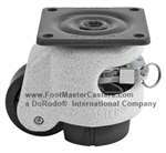 "GDR-60S 2"" Ratcheting Leveling top plate caster, Foot Master"