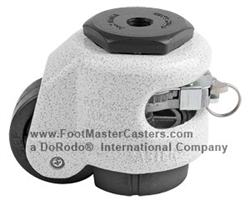 "GDR-60S 2"" Ratcheting Leveling M12 Stem Caster, Foot Master"