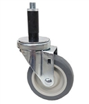 "Light Duty Medium Duty 3""x 1.25"" Swivel Expandable Adapter Stem Caster TPR Extra Soft Rubber Wheel"