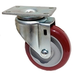 "Light Duty 4""X1-1/4"" Swivel Caster Polyurethane Nomad on Polyolefin Core"