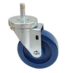"Light Duty Medium Duty 4""x 1.25"" Swivel Grip Ring Stem Caster Solid Polyurethane Wheel"