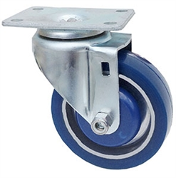 "Light Duty Medium Duty 4""x 1.25"" Swivel Caster Polyurethane on Aluminum Wheel"