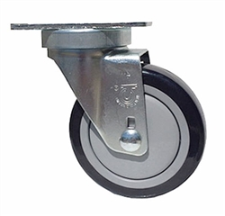 "Light Duty 4""X1-1/4"" Swivel Caster Polyurethane on Polyolefin Core"
