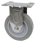 "Light Duty Medium Duty 4""x 1.25"" Rigid Caster TPR Grey Soft Rubber Wheel"