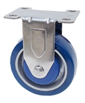"Light Duty Medium Duty 4""x 1.25"" Rigid Caster Polyurethane on Aluminum Wheel"