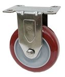 "Light Duty 4""X1-1/4"" Rigid Caster Polyurethane Nomad on Polyolefin Core"