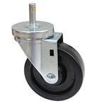 "Light Duty Medium Duty 5""x 1.25"" Swivel Grip Ring Stem Caster Phenolic Wheel"