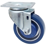 "Light Duty Medium Duty 5""x 1.25"" Swivel Caster Polyurethane on Aluminum Wheel"