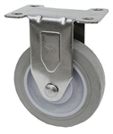 "Light Duty Medium Duty 5""x 1.25"" Rigid Caster TPR Grey Soft Rubber Wheel"