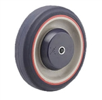 "5"" Pemco KasterKat Shopping Cart Caster Wheels, Polyurethane"