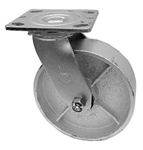 "Medium Duty 5""x 2"""" Swivel Caster Cast Iron Wheel"