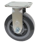 "Medium Duty 5""x 2"""" Rigid Caster High Capacity Polyurethane on Polyolefin Wheel"