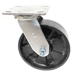 "Stainless Steel Medium Duty 5""x 2"" Swivel Caster Nylon Wheel"