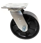 "Medium Duty 6""x 2"""" Swivel Caster Glass Filled Nylon Wheel"