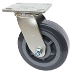 "Medium Duty 6""x 2"" Swivel Caster High Capacity Polyurethane on Polyolefin Wheel"