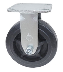 "Medium Duty 6""x 2"" Rigid Caster Rubber on Nylon Wheel"