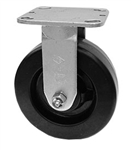 "Medium Duty 6""x 2"""" Rigid Caster Phenolic Wheel"
