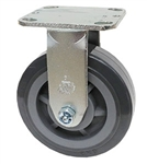 "Medium Duty 6""x 2"""" Rigid Caster High Capacity Polyurethane on Polyolefin Wheel"