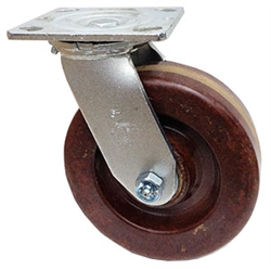 "Stainless Steel Medium Duty 6""x 2"" Swivel Caster High Temp Phenolic Wheel"