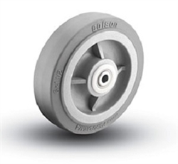 "6""x 2""  Colson Performa Soft Grey Rubber, Non Marking Wheel with Roller Bearing"