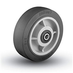 "6""x 2""  Colson Performa Soft Black Rubber, Non Marking Wheel with Roller Bearing"