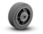 "6""x 2""  Xtra Soft Grey Rubber  Non Marking Wheel Roller Bearing"