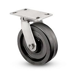 "Heavy Duty Kingpinless Swivel Caster with a 6"" x 3"" Phenolic wheel"