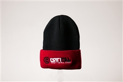 Critical Paintball Beanie Black / Red - Logo