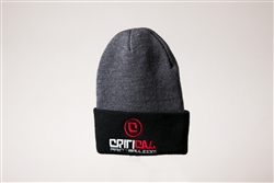Critical Paintball Beanie Grey / Black - Logo