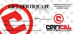 Critical Paintball Gift Certificate