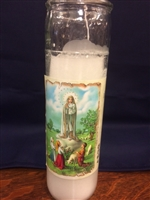 Our Lady of Fatima Devotinal Candle